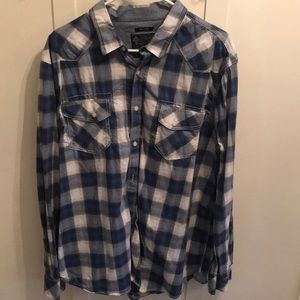 American rag men's button up shirt